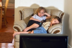 The American Academy of Pediatrics discourages any TV during the first two years of life and recommends no more than one to two hours of quality programming for older children.